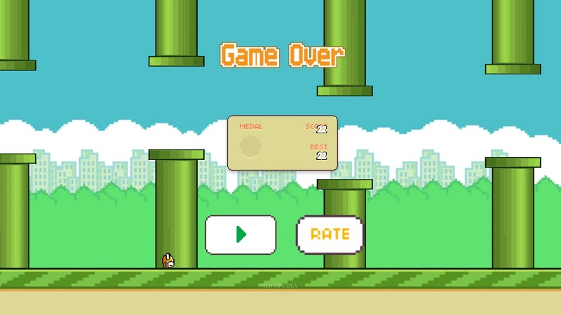 If you are playing bad 'Flappy Bird' is not your fault, but the touch screen