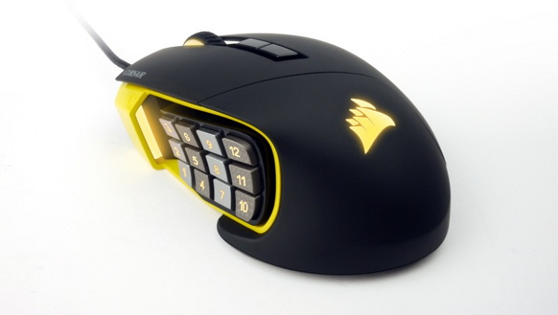 Corsair Scimitar is the mouse for the MMO: 12 programmable buttons and RGB illumination