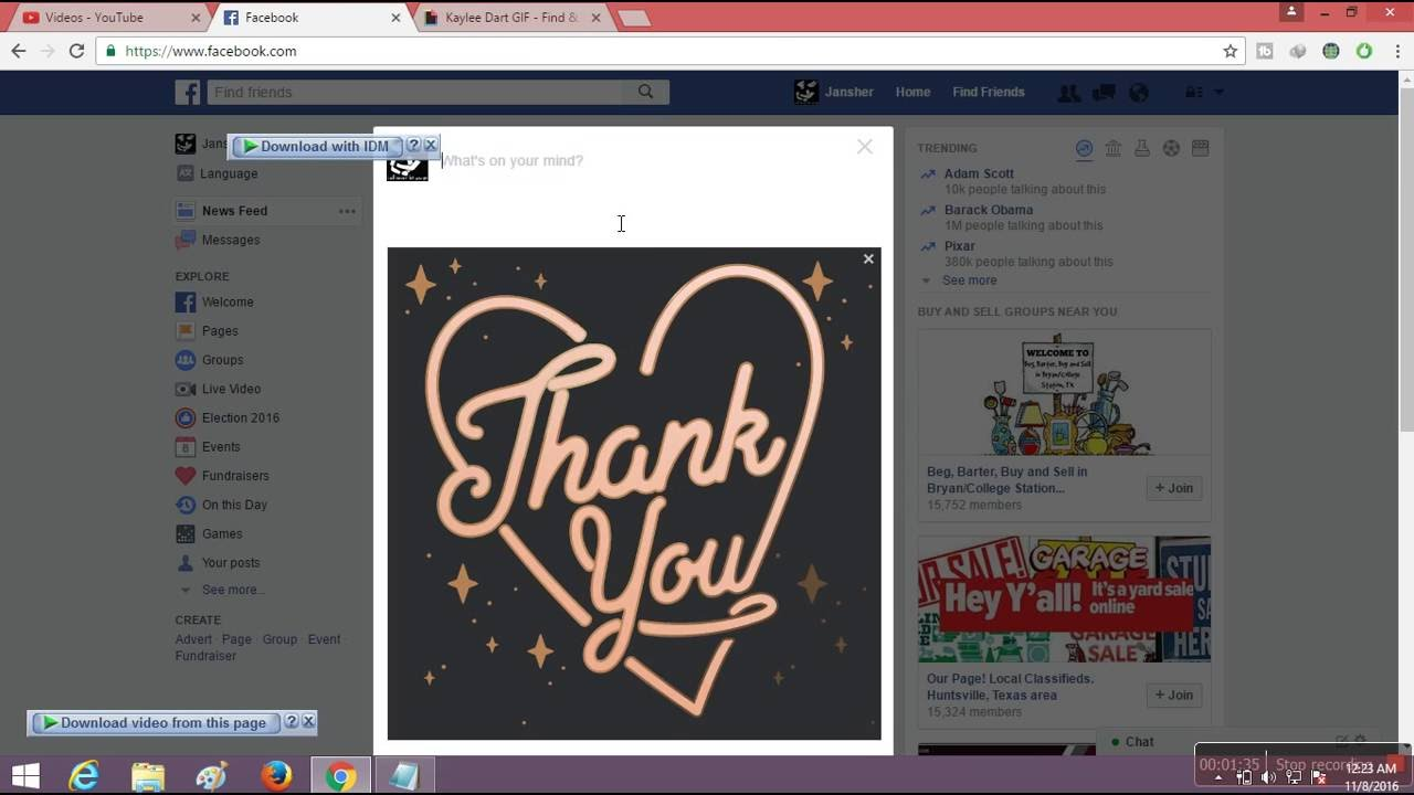 how to upload a gif to facebook